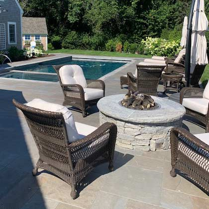 Wood Burning Firepit on the patio